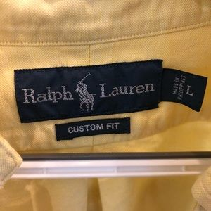 Polo by Ralph Lauren Shirts - Men's Yellow Large Polo Button Down